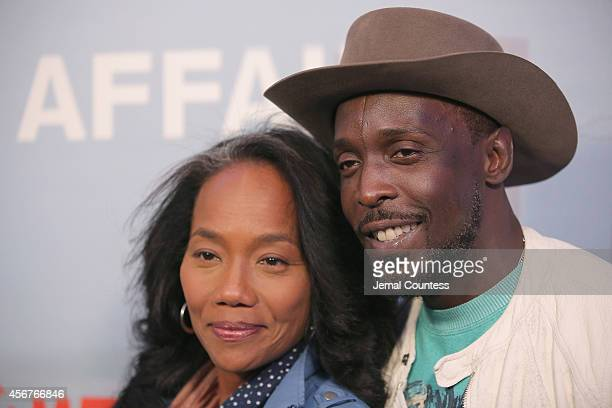 Actors Sonja Sohn and Michael K Williams attend 'The Affair' New York series premiere on October 6 2014 in New York City