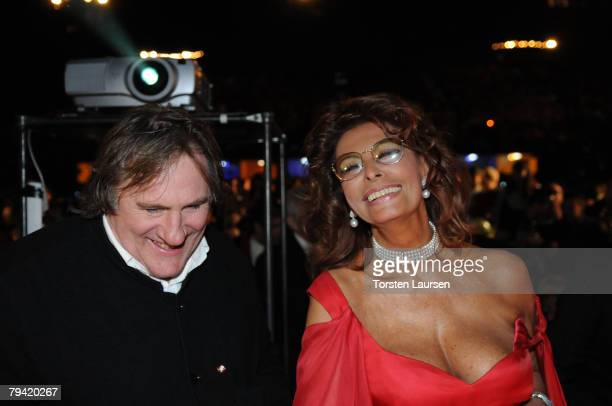 Actors Sophia Loren and Gerard Depardieu are part of the jury to select the Queen of the famous Santa Cruz de Tenerife Carnival in Tenerife Spain