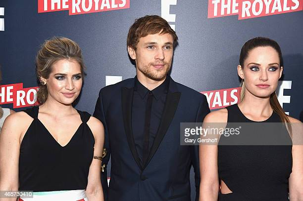Actors Sophie Colquhoun William Moseley and Merritt Patterson attend 'The Royals' New York Series Premiere at The Standard Highline on March 9 2015...