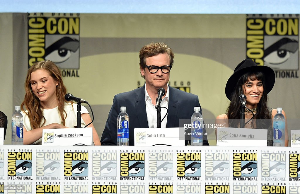 Actors Sophie Cookson, Colin Firth and Sofia Boutella attend the 20th Century Fox presentation during Comic-Con International 2014 at San Diego Convention Center on July 25, 2014 in San Diego, California.