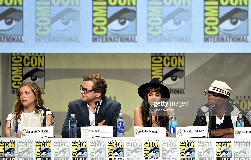 Actors Sophie Cookson, Colin Firth, Sofia Boutella and Samuel L. Jackson attend the 20th Century Fox presentation during Comic-Con International 2014 at San Diego Convention Center on July 25, 2014 in San Diego, California.