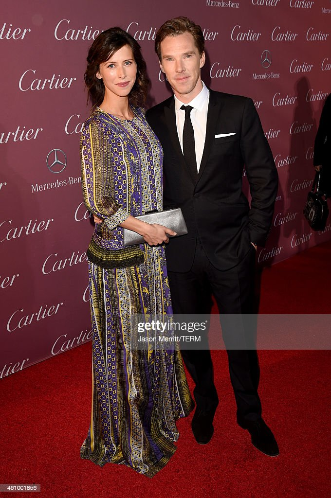 Actors Sophie Hunter (L) and Benedict Cumberbatch attend the 26th Annual Palm Springs International Film Festival Awards Gala at Palm Springs Convention Center on January 3, 2015 in Palm Springs, California.