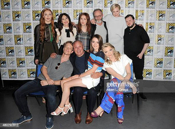 Actors Sophie Turner Carice van Houten Hannah Murray Liam Cunningham Gwendoline Christie and John Bradley Alfie Allen Conleth Hill Maisie Williams...