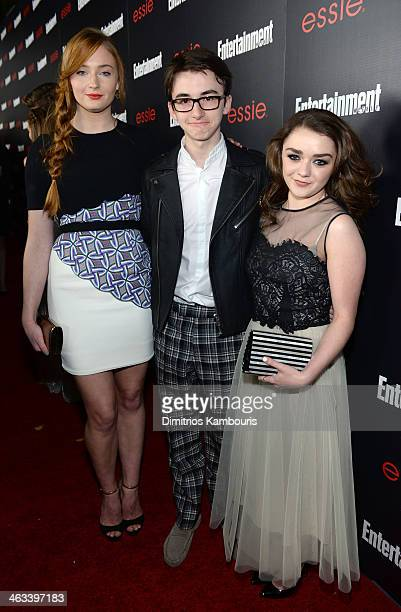 Actors Sophie Turner Isaac HempsteadWright Maisie Williams attend the Entertainment Weekly celebration honoring this year's SAG Awards nominees...