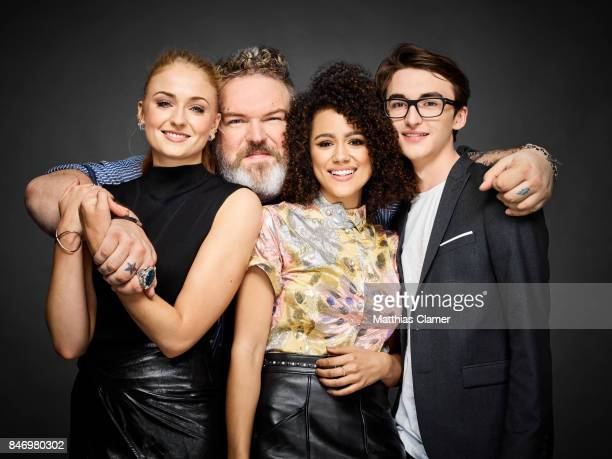 Actors Sophie Turner Kristian Nairn Nathalie Emmanuel and Isaac Hempstead Wright from 'Game of Thrones' are photographed for Entertainment Weekly...