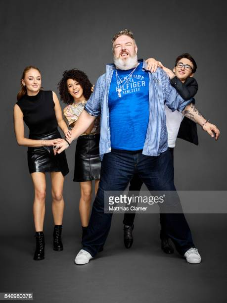 Actors Sophie Turner Nathalie Emmanuel Kristian Nairn and Isaac Hempstead Wright from 'Game of Thrones' are photographed for Entertainment Weekly...