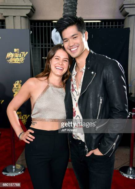 Actors Sosie Bacon and Ross Butler attend the 2017 MTV Movie And TV Awards at The Shrine Auditorium on May 7 2017 in Los Angeles California