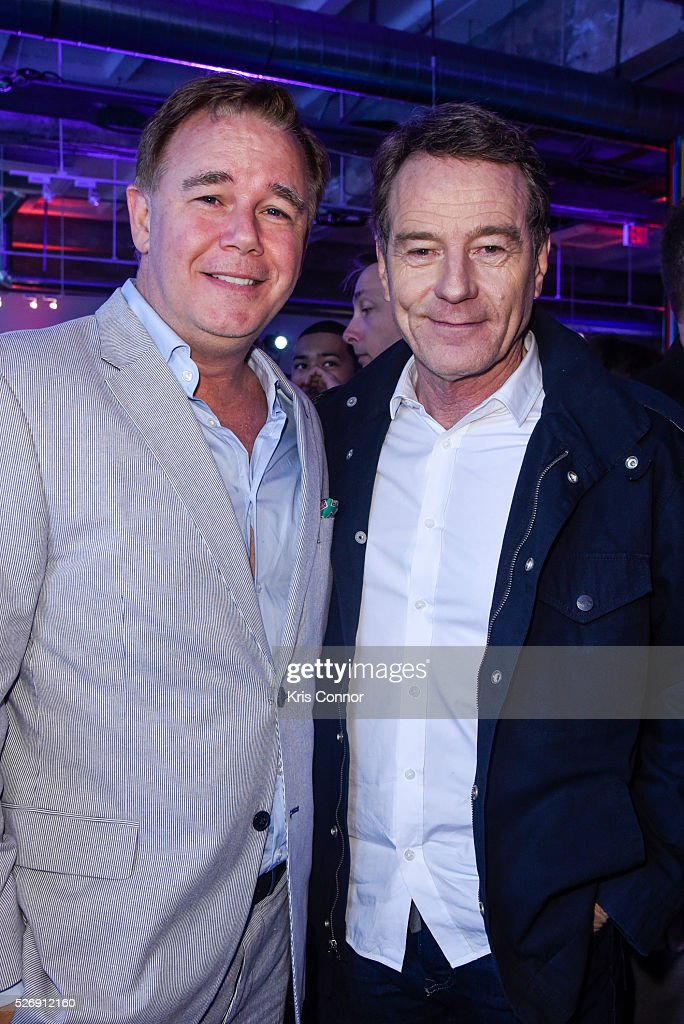 Actors Spencer Garrett and <a gi-track='captionPersonalityLinkClicked' href=/galleries/search?phrase=Bryan+Cranston&family=editorial&specificpeople=217768 ng-click='$event.stopPropagation()'>Bryan Cranston</a> pose for a photo during the 2016 CNN Correspondents' Brunch at the Longview gallery in Washington, DC on May 1, 2016.
