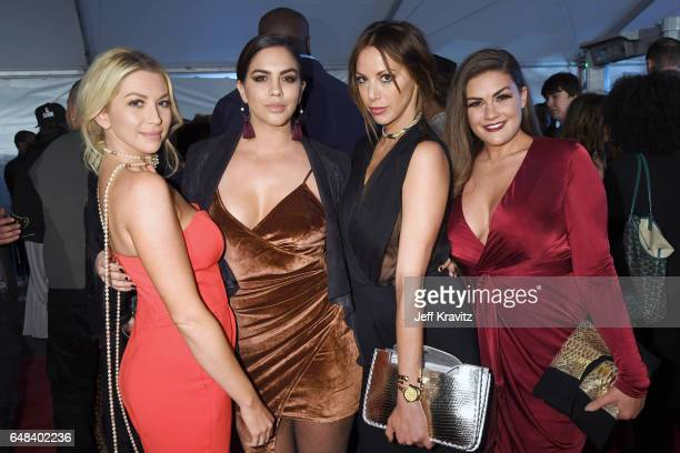 Actors Stassi Schroeder Katie Maloney Kristen Doute and Brittany Cartwright attend the 2017 iHeartRadio Music Awards which broadcast live on Turner's...