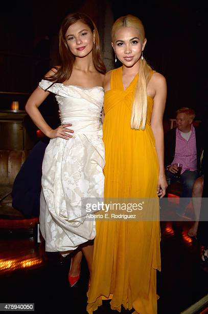 Actors Stefanie Scott and Hayley Kiyoko attend the after party for the premiere of Focus Features' 'Insidious Chapter 3' at the Emerson Theater on...