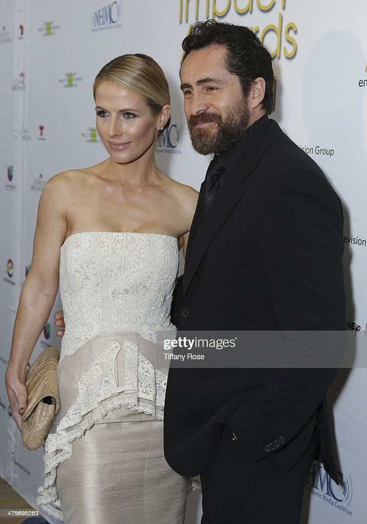 Actors Stefanie Sherk and Demian Bichir attend Moet At The 17th Annual National Hispanic Media Coalition Impact Awards at the Beverly Wilshire Four Seasons Hotel on February 28, 2014 in Beverly Hills, California.