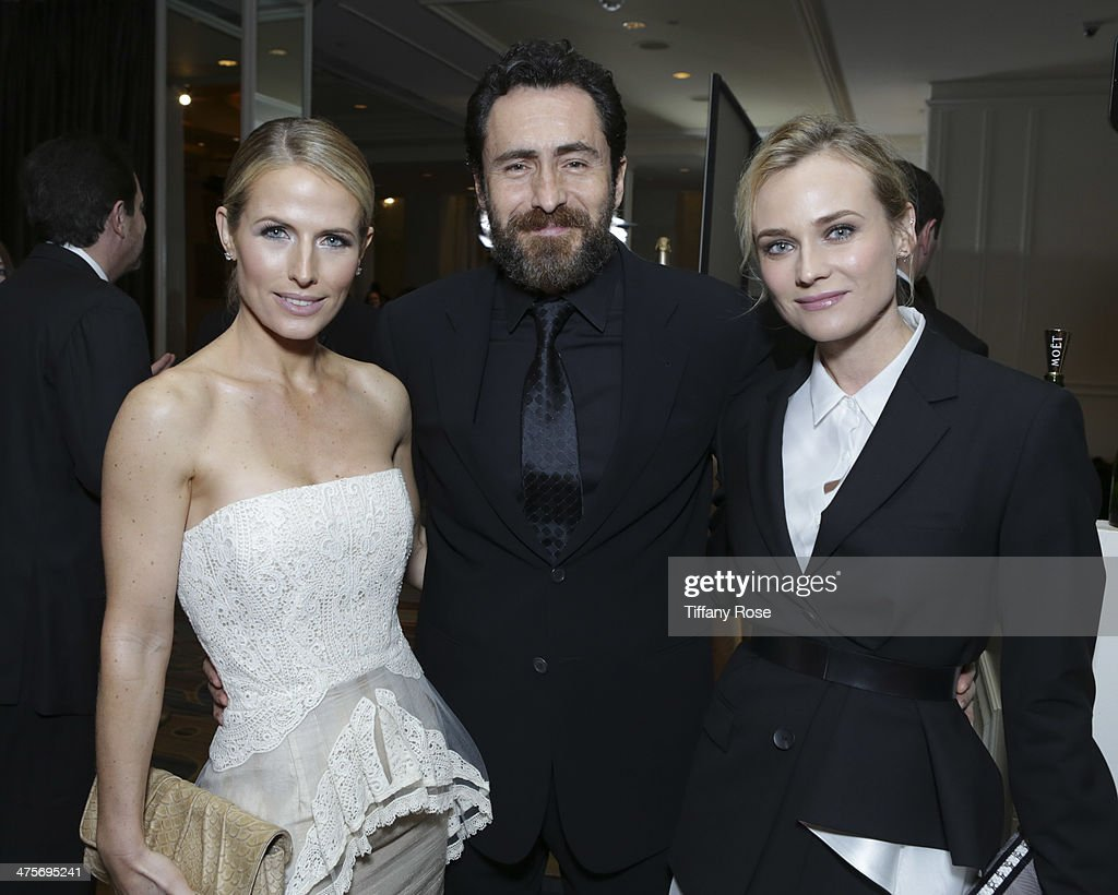 Actors Stefanie Sherk, Demian Bichir and Diane Kruger attend Moet At The 17th Annual National Hispanic Media Coalition Impact Awards at the Beverly Wilshire Four Seasons Hotel on February 28, 2014 in Beverly Hills, California.