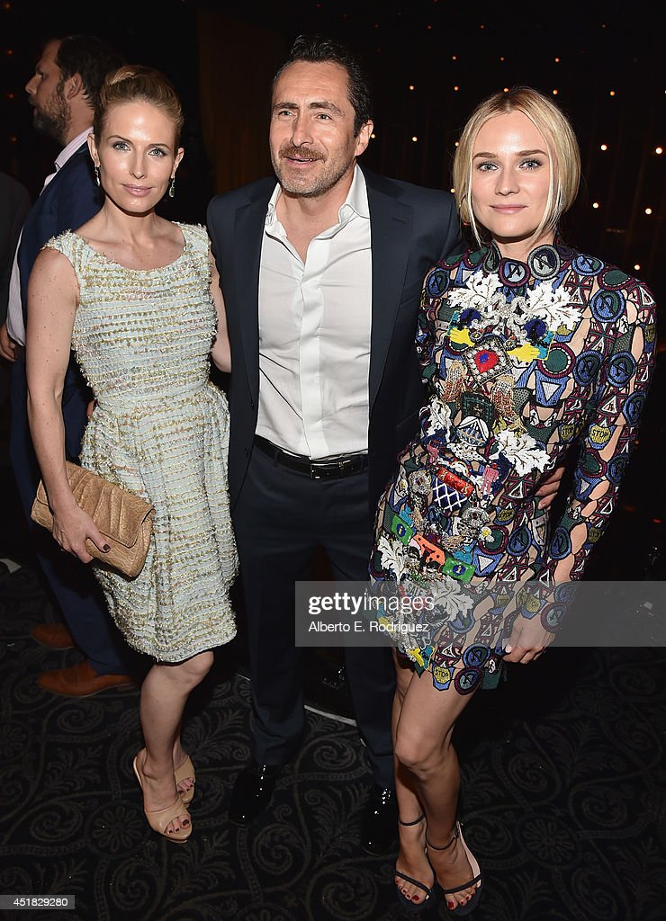 Actors Stefanie Sherk, <a gi-track='captionPersonalityLinkClicked' href=/galleries/search?phrase=Demian+Bichir&family=editorial&specificpeople=604427 ng-click='$event.stopPropagation()'>Demian Bichir</a> and <a gi-track='captionPersonalityLinkClicked' href=/galleries/search?phrase=Diane+Kruger&family=editorial&specificpeople=202640 ng-click='$event.stopPropagation()'>Diane Kruger</a> attend the after party for the season premiere of FX's 'The Bridge' at the Pacific Design Center on July 7, 2014 in West Hollywood, California.