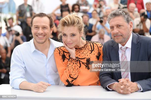 Actors Stefano Accorsi and Jasmine Trinca Stefano Accorsi with director Sergio Castellitto attend 'Fortunata' photocall during the 70th annual Cannes...