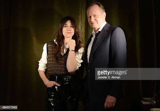 Actors Stellan Skarsgard and Charlotte Gainsbourg are photographed for Los Angeles Times on March 13 2014 in New York City