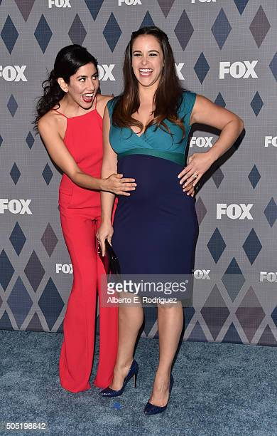 Actors Stephanie Beatriz and Melissa Fumero attend the FOX Winter TCA 2016 AllStar Party at The Langham Huntington Hotel and Spa on January 15 2016...