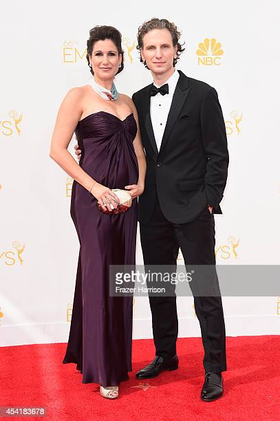 Actors Stephanie J Block and Sebastian Arcelus attend the 66th Annual Primetime Emmy Awards held at Nokia Theatre LA Live on August 25 2014 in Los...