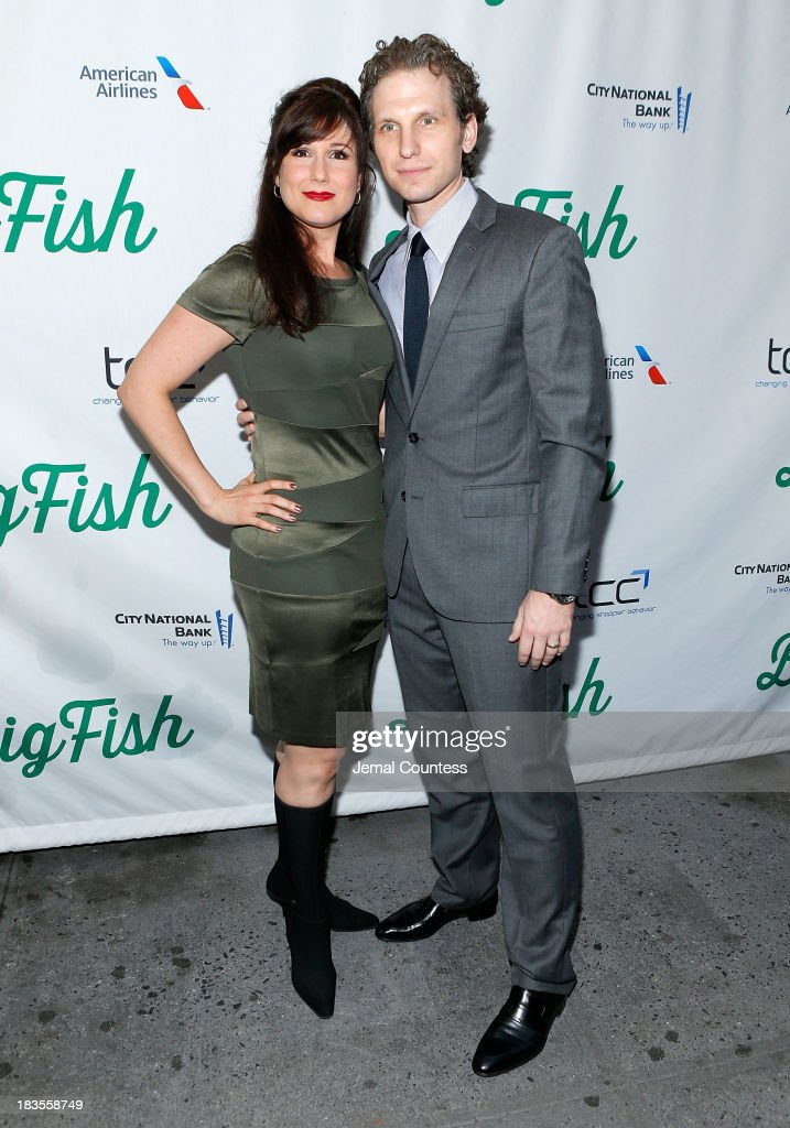 Actors Stephanie J Block and Sebastian Arcelus attend the Broadway opening night of 'Big Fish' at Neil Simon Theatre on October 6, 2013 in New York City.