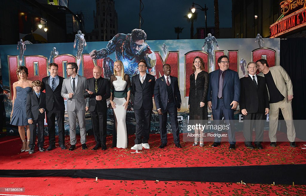 Actors Stephanie Szostak Ty Simpkins James Badge Dale Guy Pearce Ben Kingsley Gwyneth Paltrow Robert Downey Jr Don Cheadle Rebecca Hall Jon Favreau...