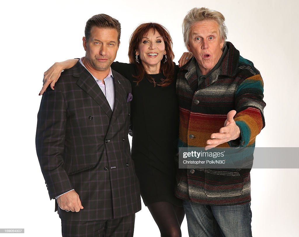 Actors Stephen Baldwin, Marilu Henner and Gary Busey attend the NBCUniversal 2013 TCA Winter Press Tour at The Langham Huntington Hotel and Spa on January 6, 2013 in Pasadena, California.
