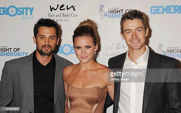Actors Stephen Colletti Shantel VanSanten and Robert Buckley attend the Generosity Water's 5th annual night of Generosity benefit held at the Beverly...
