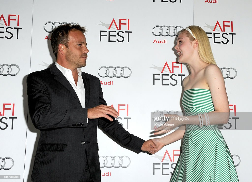 Actors <a gi-track='captionPersonalityLinkClicked' href=/galleries/search?phrase=Stephen+Dorff&family=editorial&specificpeople=206430 ng-click='$event.stopPropagation()'>Stephen Dorff</a> (L) and <a gi-track='captionPersonalityLinkClicked' href=/galleries/search?phrase=Elle+Fanning&family=editorial&specificpeople=2189940 ng-click='$event.stopPropagation()'>Elle Fanning</a> arrive at the 'Zaytoun' screening during AFI Fest 2012 presented by Audi at Grauman's Chinese Theatre on November 7, 2012 in Hollywood, California.