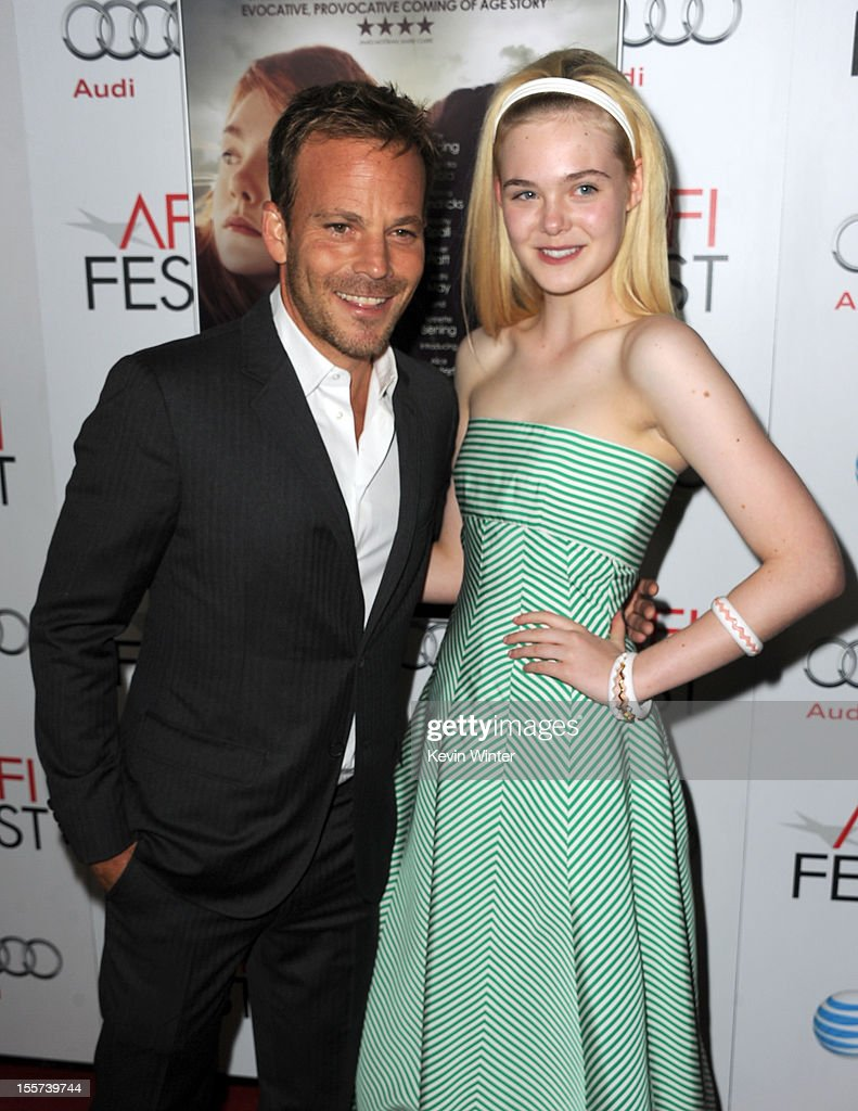 Actors Stephen Dorff (L) and Elle Fanning arrive at the 'Zaytoun' screening during AFI Fest 2012 presented by Audi at Grauman's Chinese Theatre on November 7, 2012 in Hollywood, California.