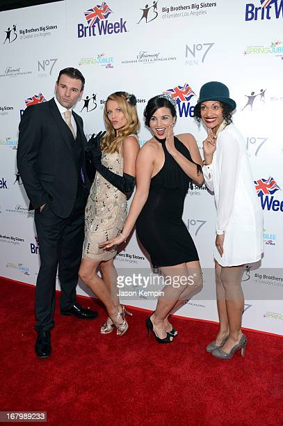 Actors Stephen Dunlevy Ellen Hollman Katrina Law and Cynthia AddaiRobinson attend BritWeek Celebrates Downton Abbey at The Fairmont Miramar Hotel on...