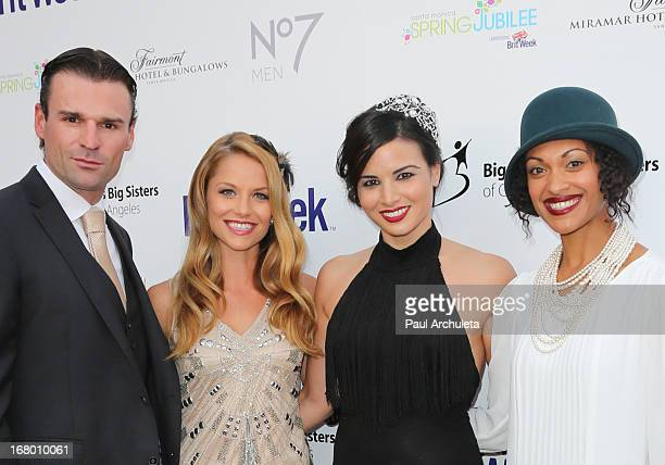 Actors Stephen Dunlevy Ellen Hollman Katrina Law and Cynthia AddaiRobinson attends the Britweek celebration of 'Downton Abbey' at Fairmont Miramar...