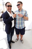 Actors Stephen Graham and Warren Brown attend the Nathalie Dubois PreEmmy Gift Suite at Luxe Hotel on September 17 2011 in Beverly Hills California