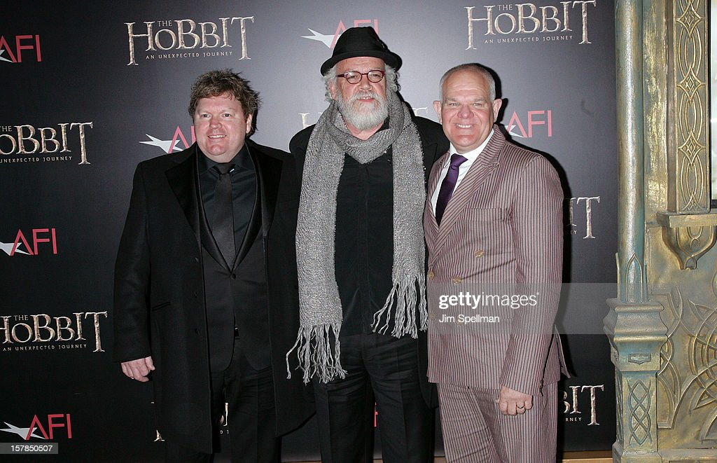 Actors Stephen Hunter, John Callen and MarkHadlow attends 'The Hobbit: An Unexpected Journey' premiere at the Ziegfeld Theater on December 6, 2012 in New York City.