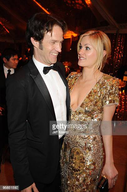 Actors Stephen Moyer and Anna Paquin attend the 67th Annual Golden Globe Awards official HBO After Party held at Circa 55 Restaurant at The Beverly...