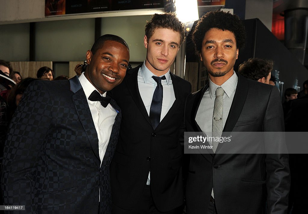 Actors Stephen Rider, Max Iron, and Shawn Carter Peterson attend the premiere of Open Road Films 'The Host' at ArcLight Cinemas Cinerama Dome on March 19, 2013 in Hollywood, California.