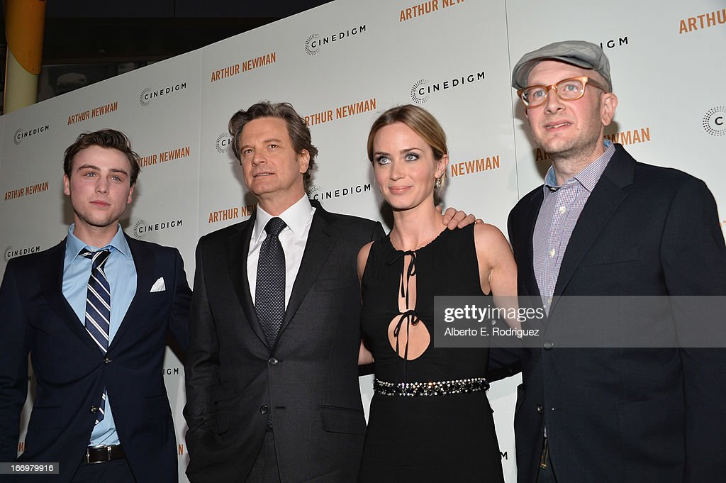 Actors Sterling Beaumon, Colin Firth, Emily Blunt and director Dante Ariola attend the premiere of Cinedigm's 'Arthur Newman' at ArcLight Hollywood on April 18, 2013 in Hollywood, California.