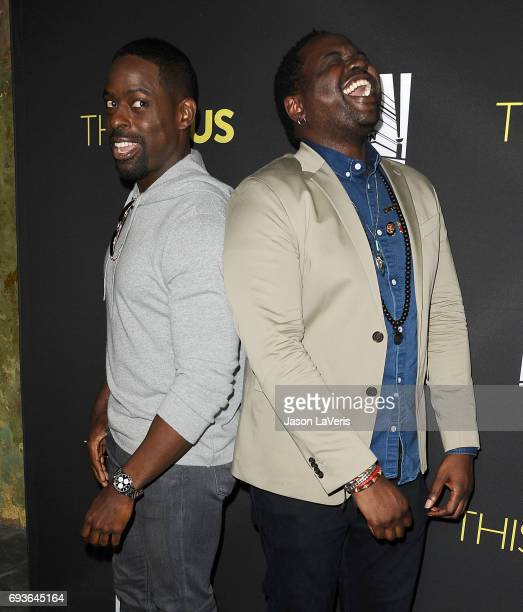 Actors Sterling K Brown and Brian Tyree Henry attend the 'This Is Us' FYC screening and panel at The Cinerama Dome on June 7 2017 in Los Angeles...