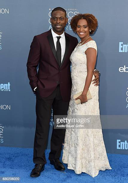 Actors Sterling K Brown and Ryan Michelle Bathe arrive at The 22nd Annual Critics' Choice Awards at Barker Hangar on December 11 2016 in Santa Monica...