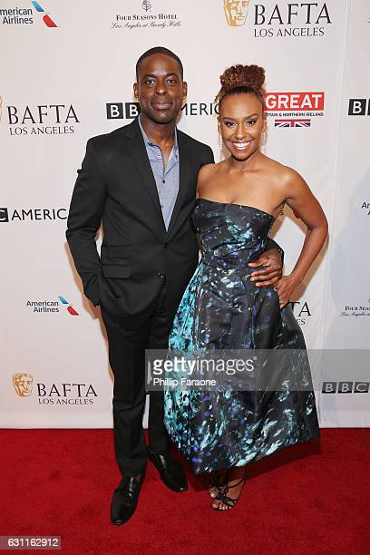 Actors Sterling K Brown and Ryan Michelle Bathe attend The BAFTA Tea Party at Four Seasons Hotel Los Angeles at Beverly Hills on January 7 2017 in...