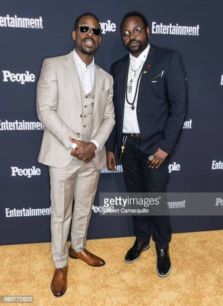 Actors Sterling K Brown of This Is Us and Brian Tyree Henry of Atlanta attend Entertainment Weekly People New York Upfronts at 849 6th Ave on May 15...