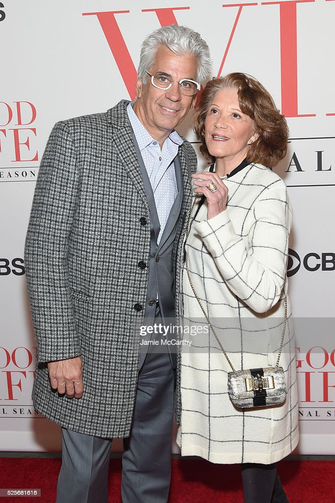 Actors Steve Bakunas (L) and Linda Lavin attend 'The Good Wife' Finale Party at Museum of Modern Art on April 28, 2016 in New York City.
