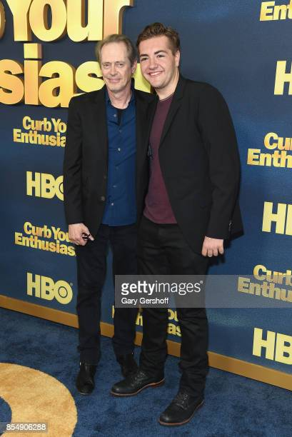 Actors Steve Buscemi and Michael Gandolfini attend 'Curb Your Enthusiasm' season 9 premiere at SVA Theater on September 27 2017 in New York City