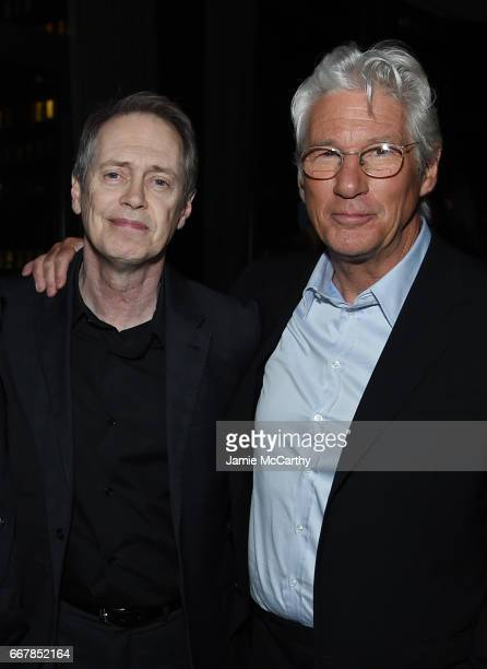 Actors Steve Buscemi and Richard Gere attend the after party for the screening of Sony Pictures Classics' 'Norman' hosted by The Cinema Society at...