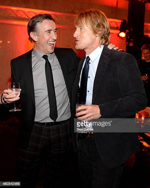 Actors Steve Coogan and Owen Wilson attend the 'Night At The Museum Secret Of The Tomb' New York Premiere after party at the American Museum of...