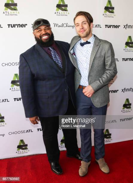 Actors Steve Ellis and Matthew Fahey attend the screening of 'Holden On' during the 2017 Atlanta Film Festival at the Plaza Theatre on March 25 2017...
