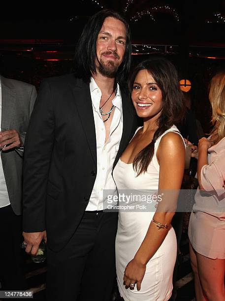 Actors Steve Howey and Sarah Shahi attend Audi and David Yurman Kick Off Emmy Week 2011 and Support Tuesday's Children at Cecconi's Restaurant on...
