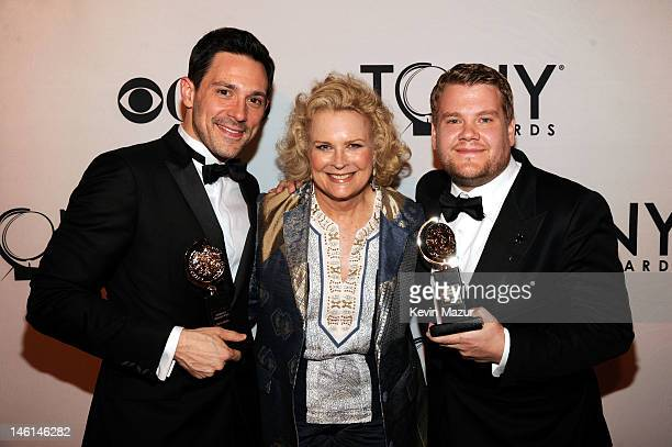 Actors Steve Kazee Candice Bergen James Corden attend the 66th Annual Tony Awards at The Beacon Theatre on June 10 2012 in New York City