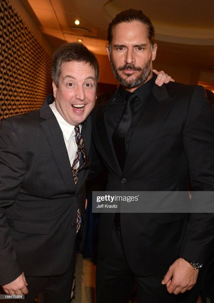 Actors Steve Little and <a gi-track='captionPersonalityLinkClicked' href=/galleries/search?phrase=Joe+Manganiello&family=editorial&specificpeople=2516889 ng-click='$event.stopPropagation()'>Joe Manganiello</a> attend HBO's Official Golden Globe Awards After Party held at Circa 55 Restaurant at The Beverly Hilton Hotel on January 13, 2013 in Beverly Hills, California.