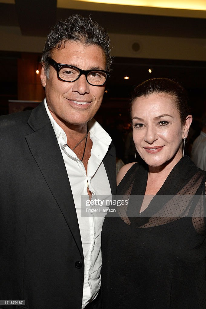 Actors <a gi-track='captionPersonalityLinkClicked' href=/galleries/search?phrase=Steven+Bauer&family=editorial&specificpeople=220736 ng-click='$event.stopPropagation()'>Steven Bauer</a> and Bertila Damas attend the after party for the premiere of 'Blue Jasmine' hosted by AFI & Sony Picture Classics at AMPAS Samuel Goldwyn Theater on July 24, 2013 in Beverly Hills, California.