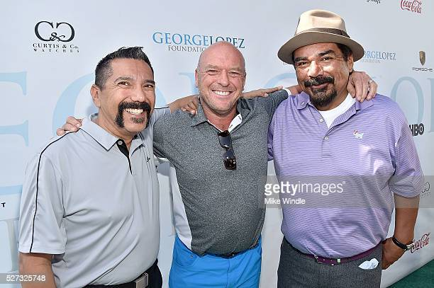 Actors Steven Michael Quezada Dean Norris and George Lopez attend the 9th Annual George Lopez Celebrity Golf Classic to benefit The George Lopez...