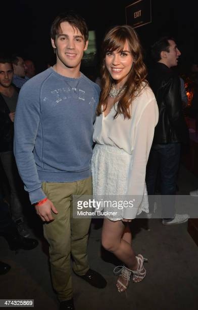 "Actors Steven R McQueen and Christa B Allen celebrate the Abercrombie Fitch ""The Making of a Star"" Spring Campaign Party in Hollywood CA on February..."