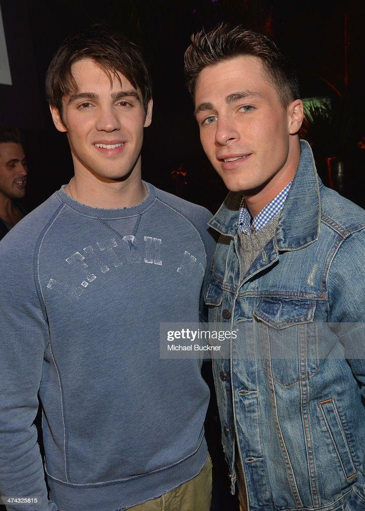 "Actors Steven R McQueen and Colton Haynes celebrate the Abercrombie Fitch ""The Making of a Star"" Spring Campaign Party in Hollywood CA on February 22..."
